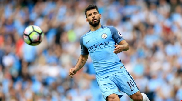 Could Manchester City striker Sergio Aguero miss next month's derby after 'elbow' incident?