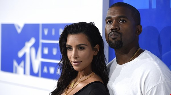 Kim Kardashian West and Kayne West lead monochrome stars as A-listers arrive at MTV VMAs