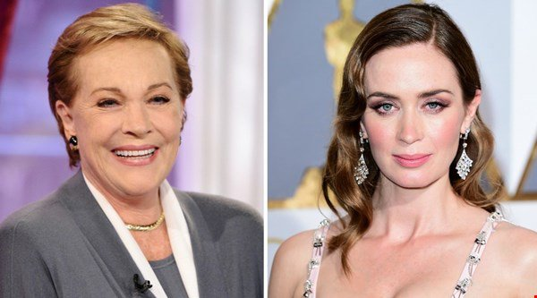 Dame Julie Andrews gives blessing for Emily Blunt to play magical nanny Mary Poppins in reboot