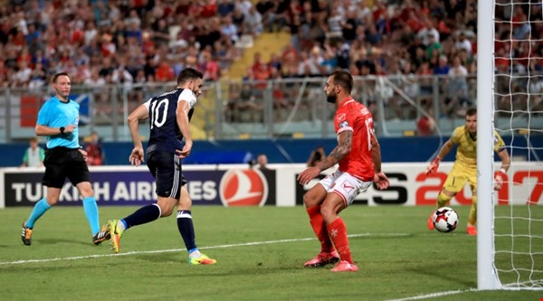 Scotland score an impressive 5-1 victory over nine-man Malta