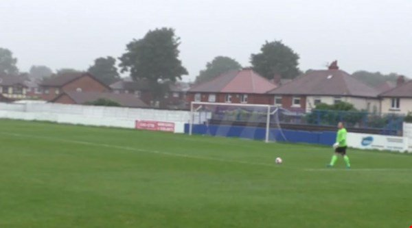 Watch as goalkeeper scores spectacular goal from his own penalty area in FA Cup qualifying round