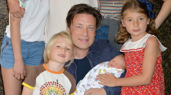 Jamie Oliver's newborn River Rocket is already a fan of Spandau Ballet