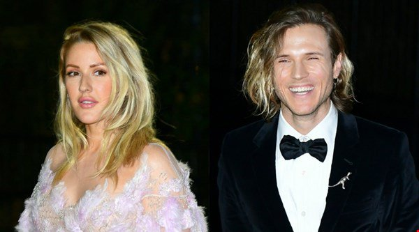 Awkward? Ellie Goulding and her ex Dougie Poynter both attend the GQ Men of the Year Awards