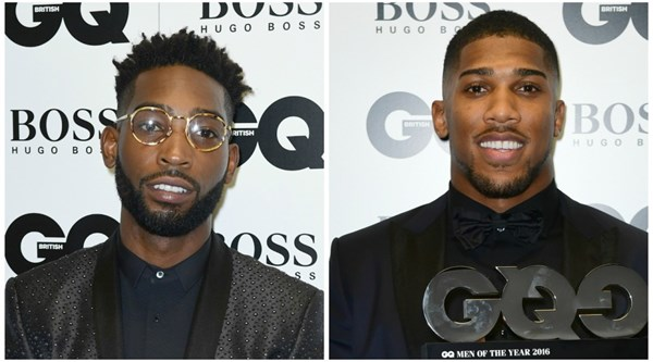 Tinie Tempah and Anthony Joshua enjoy bromance at GQ Men of the Year Awards