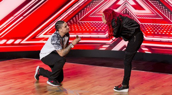 Surprise proposal in the X Factor audition room – but did she say yes?
