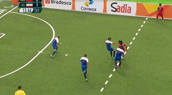 This goal in the visually impaired football is the most extraordinary thing you'll see today