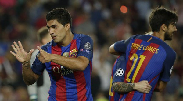 Watch as Luis Suarez demonstrates unbelievable knowledge of his Barcelona career so far