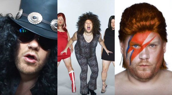 Watch James Corden dress up as Bowie, the Spice Girls and Slash in Apple Music advert