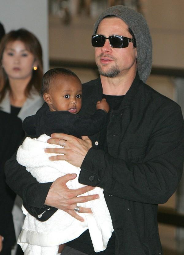 Zahara with Brad Pitt
