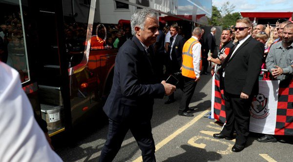 Why do Jose Mourinho and Manchester United appear to be training in a car park ahead of their EFL Cup tie?