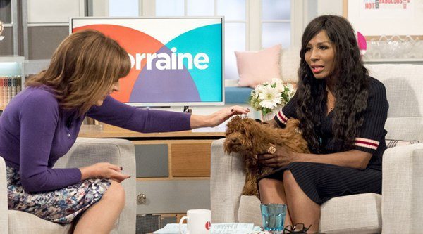 Lorraine Kelly gets barked at on live TV by Scarlet the puppy