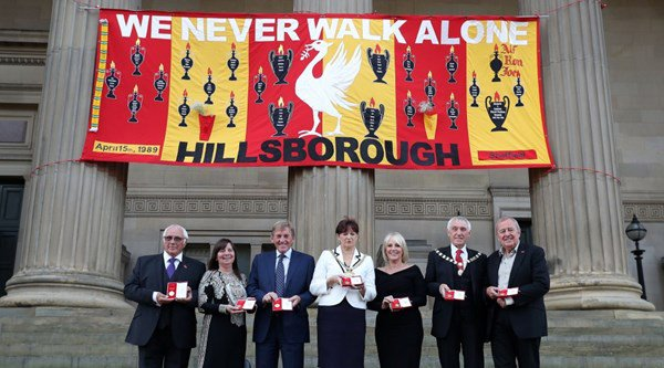 Watch as the Hillsborough 96 are posthumously awarded the Freedom of Liverpool