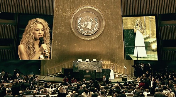 Shakira and Katy Perry among singers in new Unicef version of John Lennon's Imagine