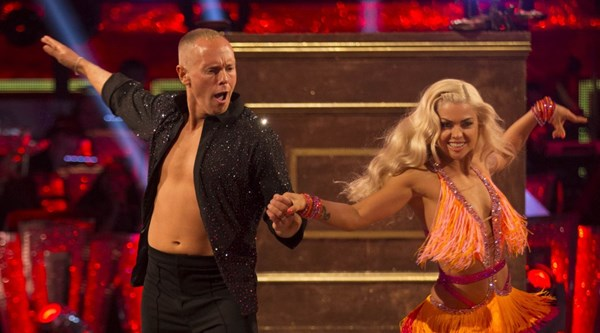 He puts the boy in flamboyant! Viewers could not get over Judge Rinder's energetic first Strictly dance