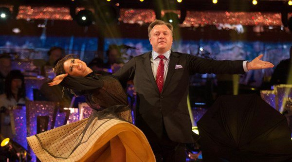Politicians and commentators from across the spectrum unite to watch Ed Balls on his Strictly debut