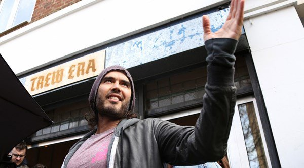 Russell Brand gives his east London cafe to charity