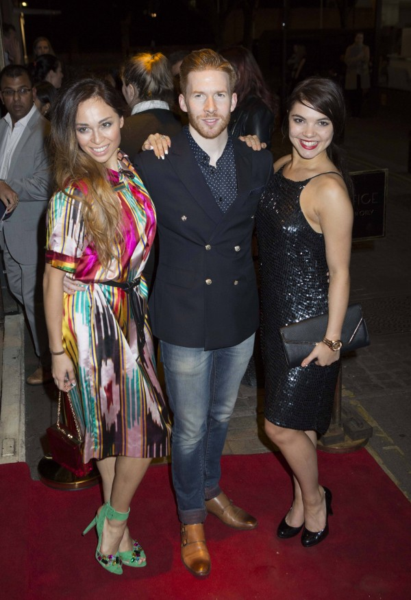 (left to right) Katya Jones, Neil Jones and Chloe Hewitt. PRESS ASSOCIATION Photo. Picture date: Wednesday September 28, 2016. Photo credit should read: Rick Findler/PA Wire