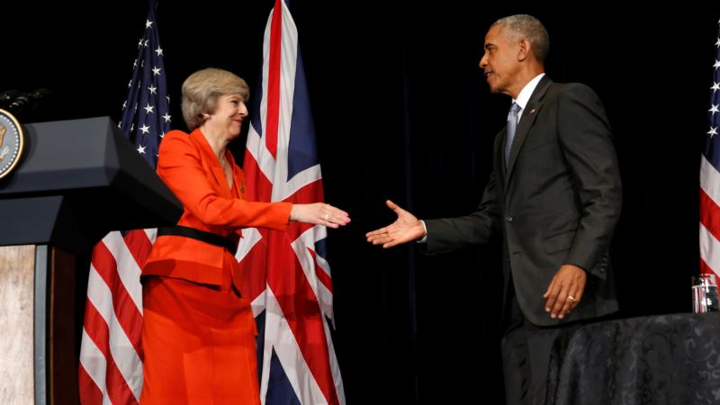 Obama, May Discuss US-Britain Trade Relations