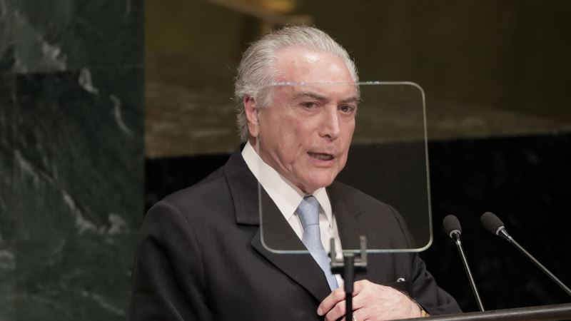 Confidence in Brazil's Economy Returning, Temer Says at UN