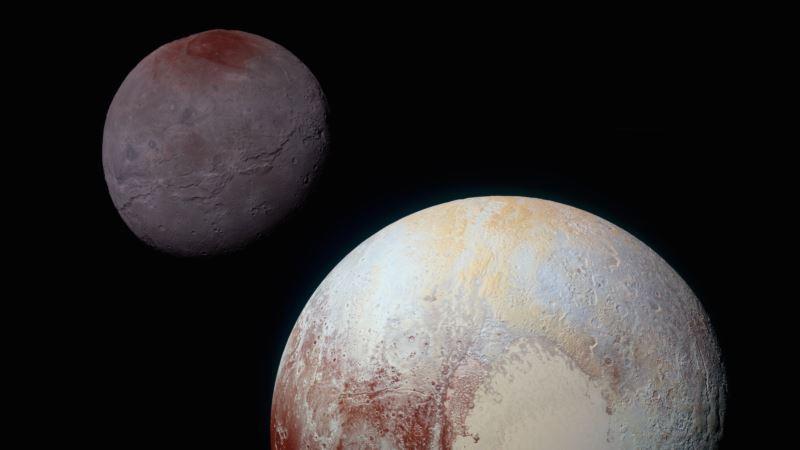 Study: Pluto 'Spray-painting' Poles of its Big Moon Charon