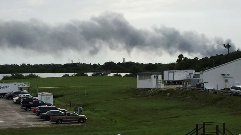 Unmanned SpaceX Rocket Explodes on Florida Launchpad