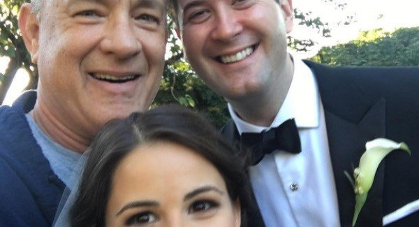 When Tom Hanks casually crashes your wedding photos