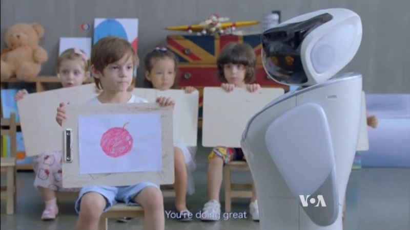 Cute Robot Provides Customer Service