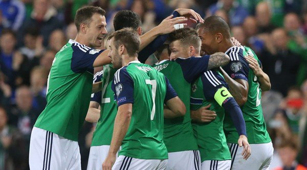Fans were busy celeb spotting as Northern Ireland beat San Marino 4-0 in World Cup qualifier