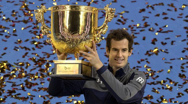 Eight photos that prove just how chuffed Andy Murray is with his China Open title trophy