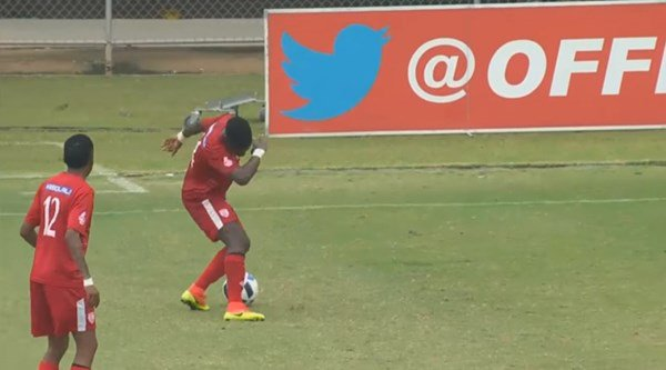 Modern football reaches its peak as South African players dab in the middle of a game