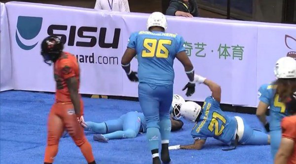 These Chinese football players seriously know how to celebrate a touchdown