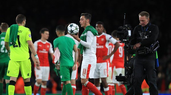 Mesut Ozil's Instagram video to celebrate his first professional hat-trick is sweet and awkward in equal measure
