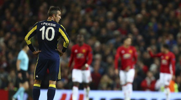 How did Robin van Persie fare upon his Old Trafford return?
