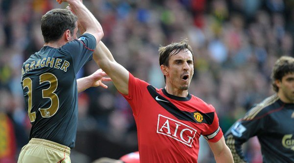 Gary Neville one-upped Jamie Carragher on Twitter with another photo from his trip to Anfield