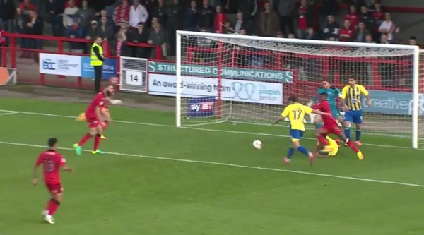 How did Accrington Stanley fail to score after BOTH of these goalmouth scrambles