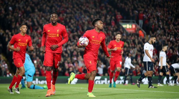 Daniel Sturridge was both the hero and the villain in the first half of Liverpool's EFL Cup game against Tottenham