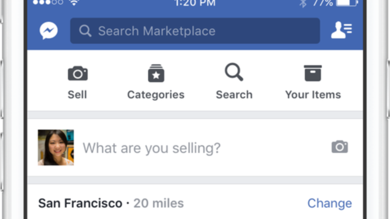 Facebook Launches 'Marketplace' Service