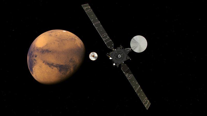 European Lander Starts Descent to Mars