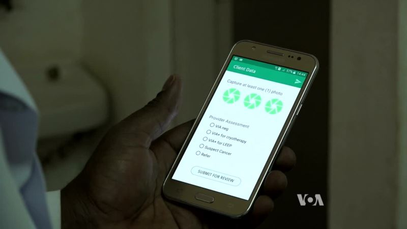 Smartphone App Screens Women for Cervical Cancer in Tanzania