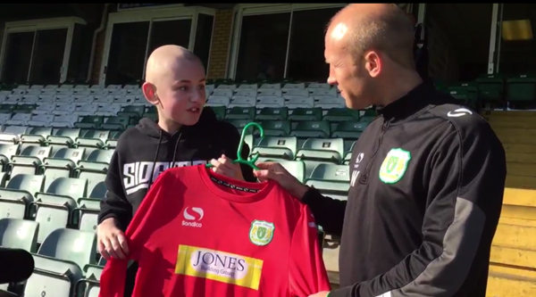 Yeovil Town 'sign' inspirational teenage cancer sufferer after life-saving transplant