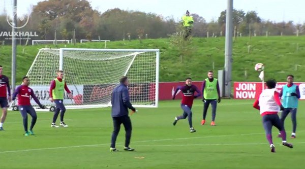 21-year-old scores sensational goal upon joining first-team England training