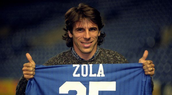 Gianfranco Zola signed for Chelsea 20 years ago, and fans have been getting all nostalgic on Twitter