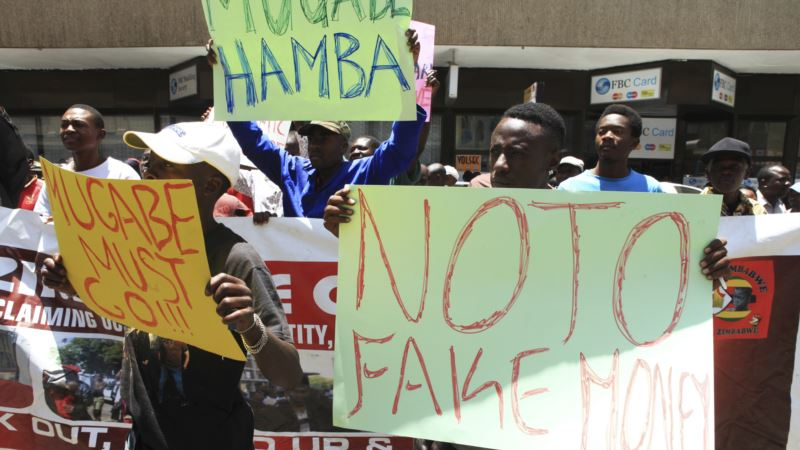 Zimbabwe Police Disperse Protesters Rejecting New Currency