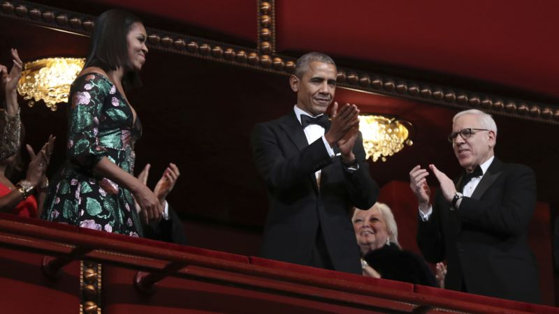 Obama Gets Standing Ovation at His Last Kennedy Center Honors