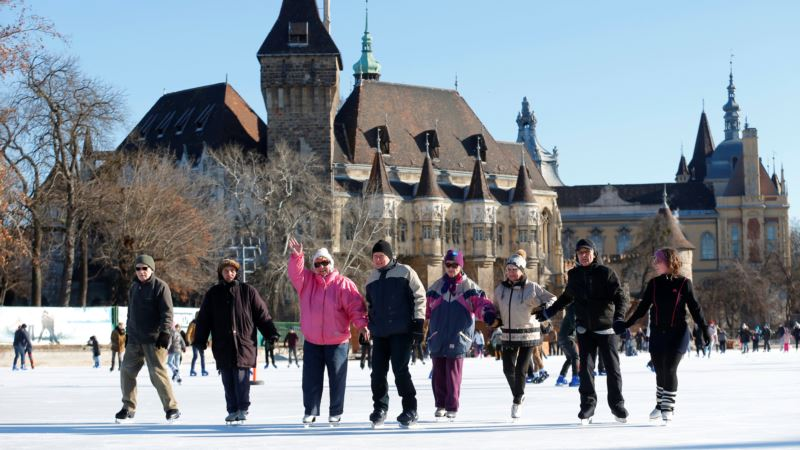 Elderly Hungarians Feel Young Again Ice Dancing