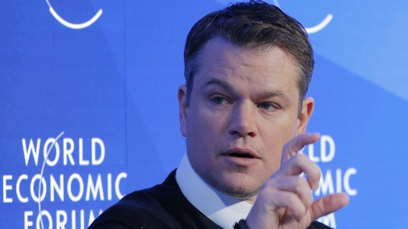 Matt Damon Takes to Davos Stage to Put Water on Map