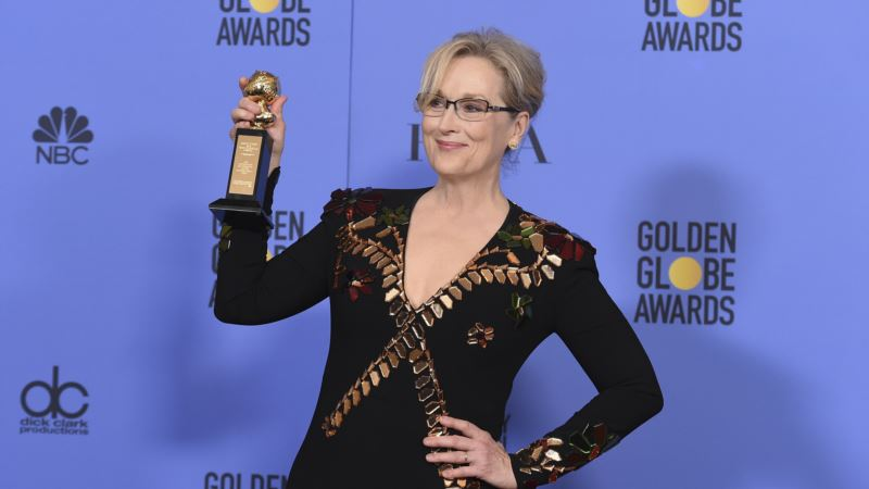 Hollywood Jokes About Trump, But Streep Serious