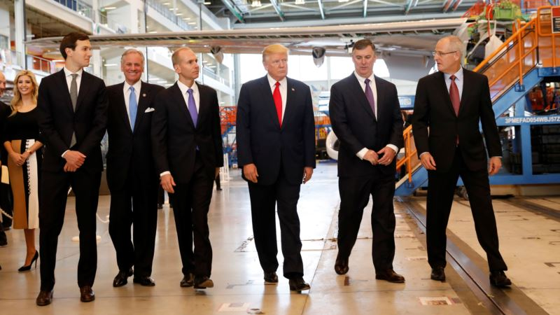 Trump Touts 'America First', US Jobs During Boeing Factory Visit
