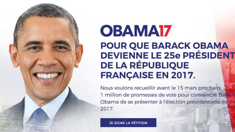 Group Urges Obama to Run for President – of France