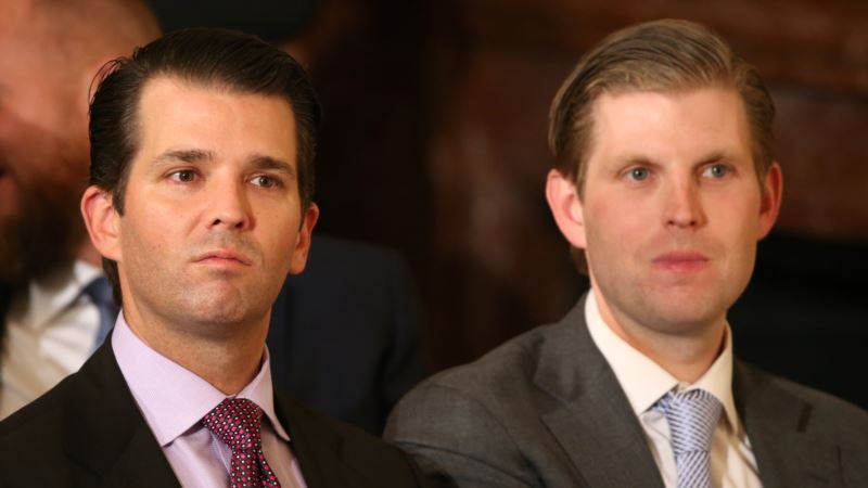 Trump's Sons Guests of Honor at Branded Golf Course Opening in Dubai